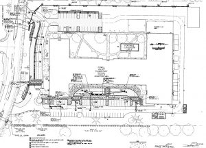 Photo depicts blueprints of the Powell Valley Elementary School improvements.